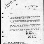 "Document 4. Desire of Auswärtiges Amt to interview Danielsson about German POWs in Egypt. The document carries in addition my references to two Swedish intercepts of German telegrams (""C-papper"") referring to Hauer."