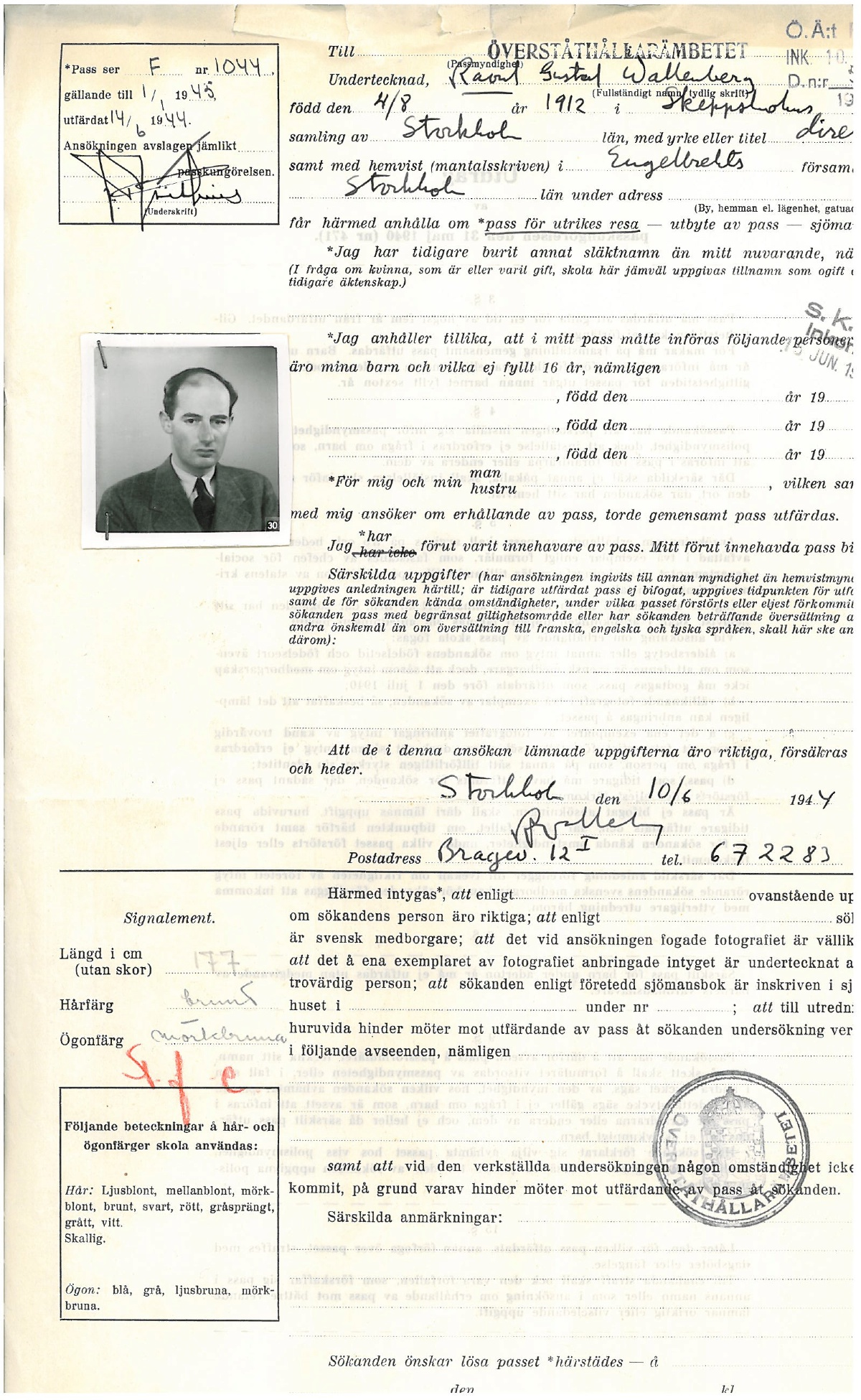 Wallenberg Of raoul wallenbergRaoul Wallenberg Passports